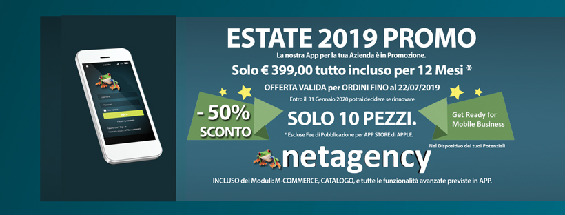 netagency app. promozione estate 2019.